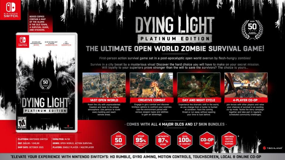 СМИ: в октябре полное издание Dying Light выйдет на Switch