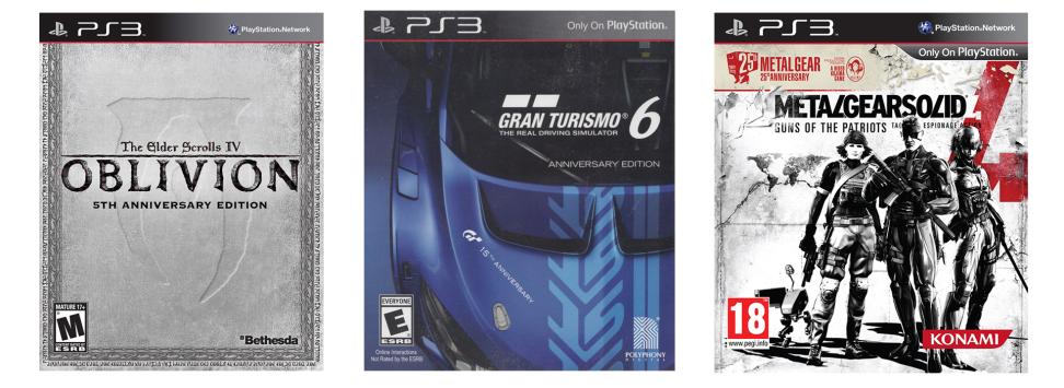Playstation 3: разновидности дисковых изданий