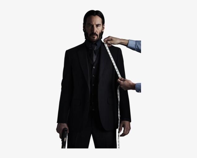 Внешний вид Джона Уика. Наэтой фотографии прекрасно виден тот самый стильно-формальный стиль одежды Джона.