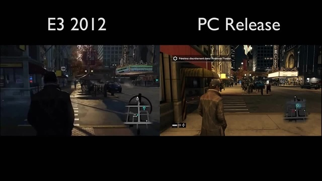 Наизображении прекрасно видна разница вграфическом плане между «геймплейным» роликом исамой игрой