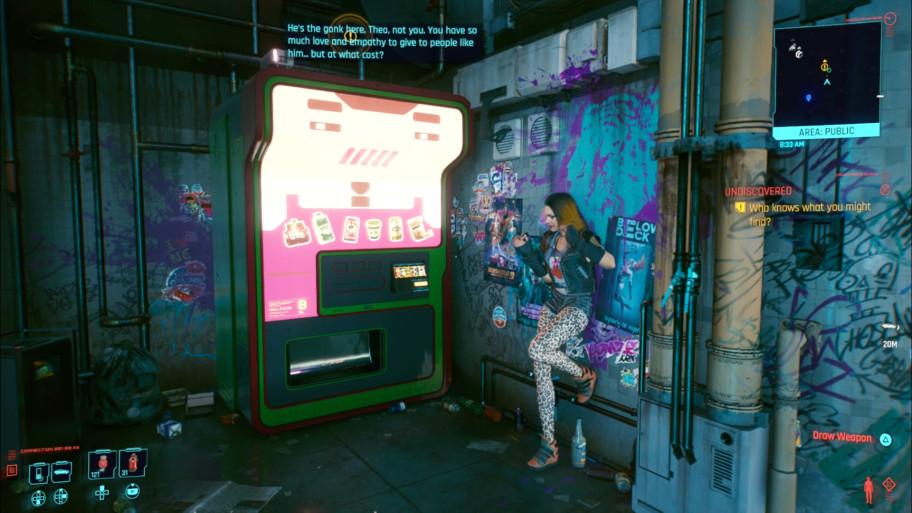 Даже те полчаса, что вы видитесь с этим торговым автоматом, всё равно добавляют многое к личности Ви.