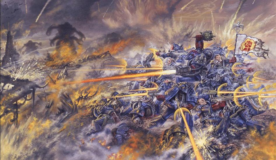 Иллюстрация из первого набора Warhammer 40,000.