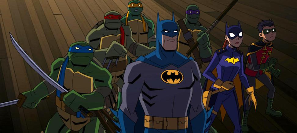 Кадр из мультфильма «Бэтмен против Черепашек-ниндзя»