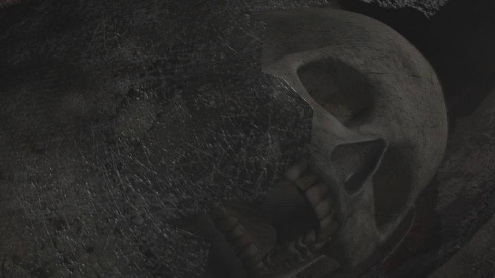 Скелет среди пустоши