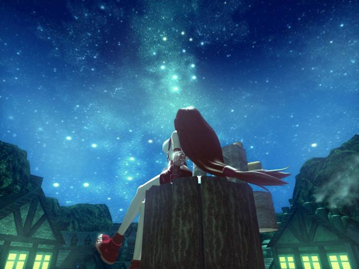 Рекламный постер Final Fantasy VII