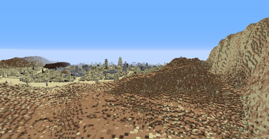 Энтузиаст намерен перенести в Minecraft все планеты из «Звёздных войн» — Татуин и Корусант уже готовы