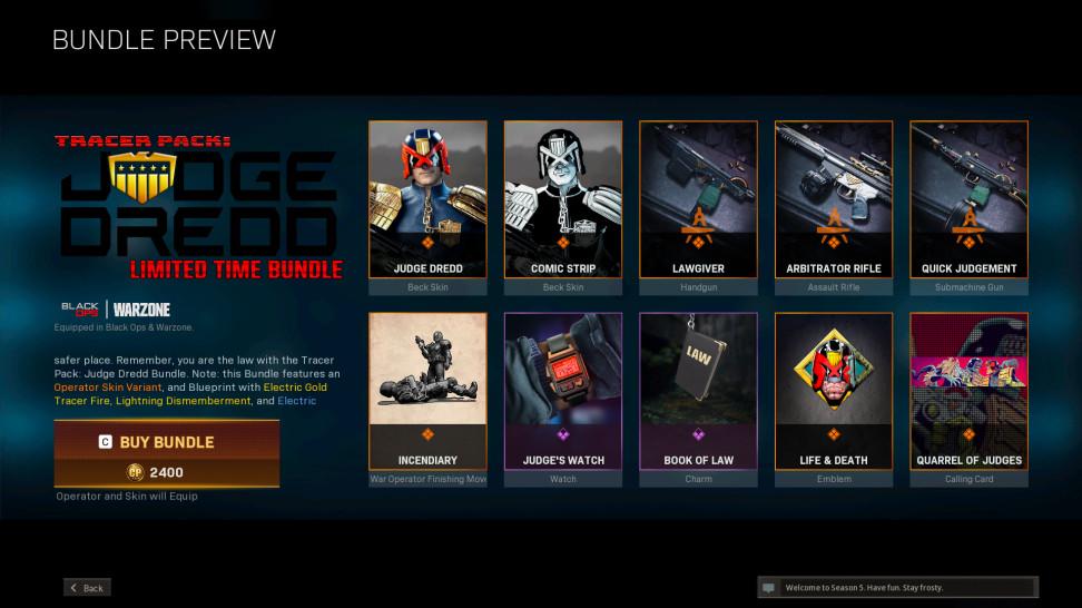 Судья Дредд готов навести порядок в Call of Duty: Warzone и Cold War — персонаж будет доступен ограниченное время