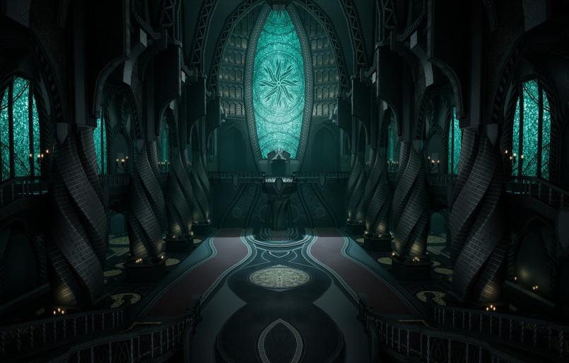 <i>Церковь Юнитологии, представленная во второй части франшизы</i>