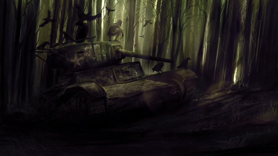 Лес поглощает все, даже прошлое.