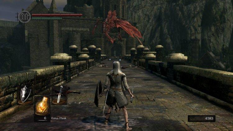 <i>       Дракон из Dark Souls, который переходит в атакующий режим, когда ты бежишь по мосту</i>