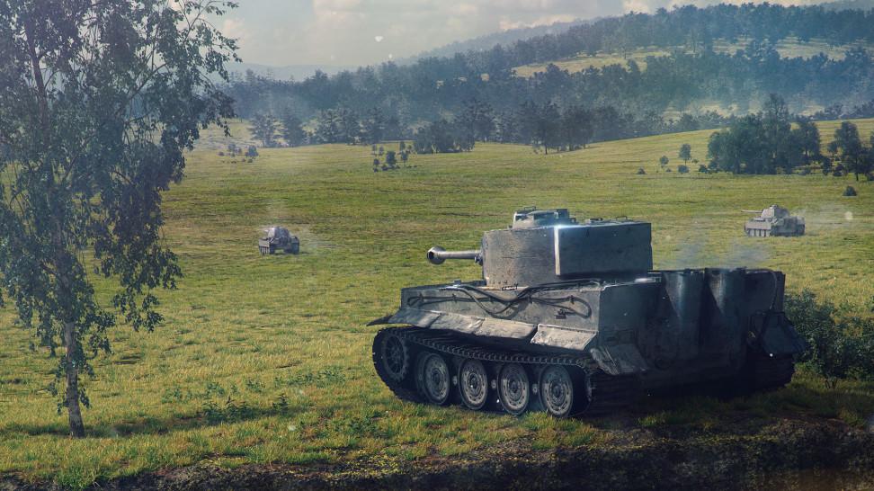 <i>                                                   Игра World of Tanks</i>