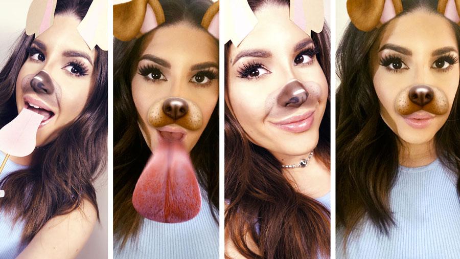 <i>Наложение маски вSnapchat</i>
