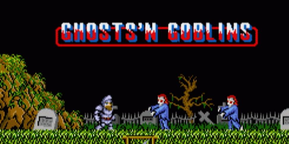 Иронично, что вGhostsnGoblins игра начинается накладбище. Capcom какбы намекают, что умирать придется часто
