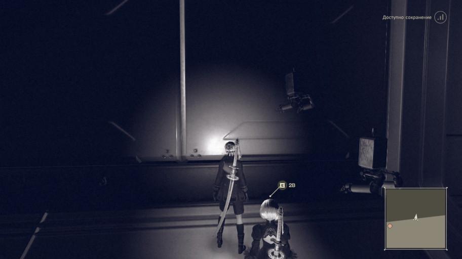 Nier. Здесь рябь видна только в тёмных местах, однако, на самом деле, на этой локации рябит всё, кроме миникарты.