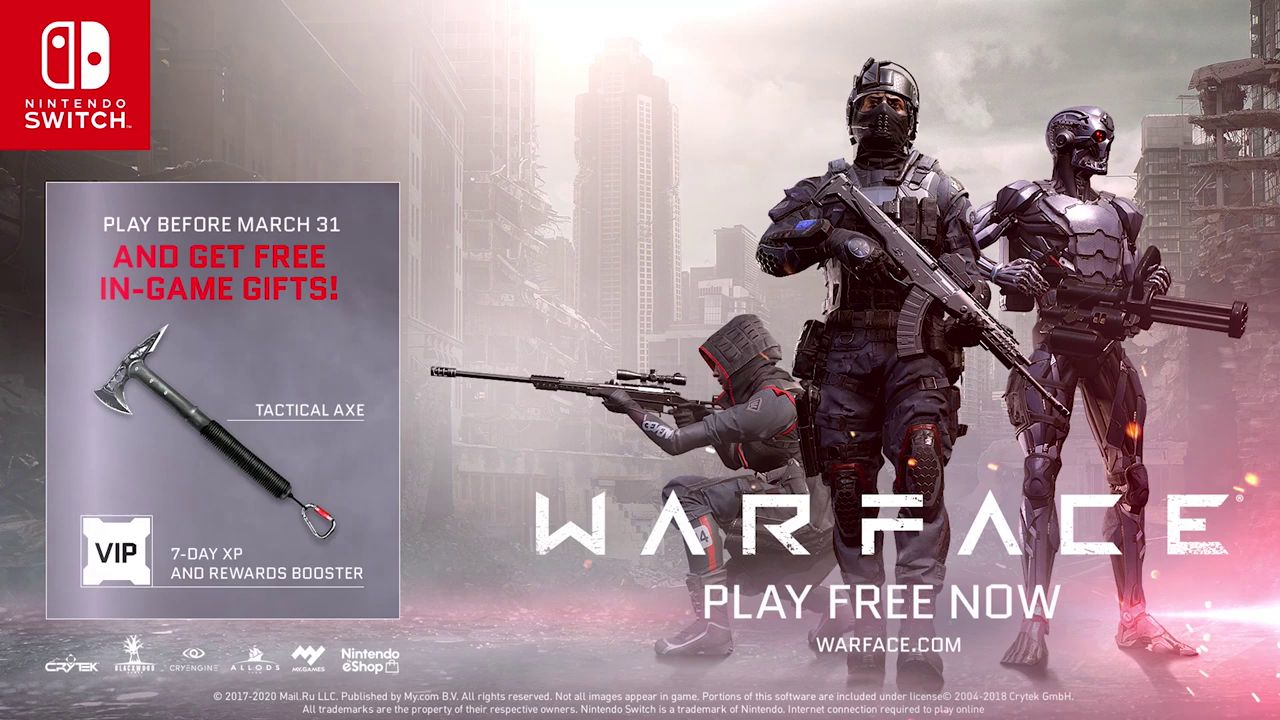 Warface: Трейлер к релизу на Nintendo Switch
