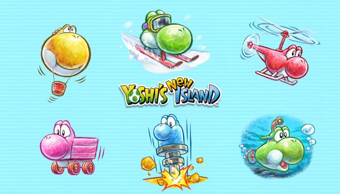 Обои по игре Yoshi's New Island
